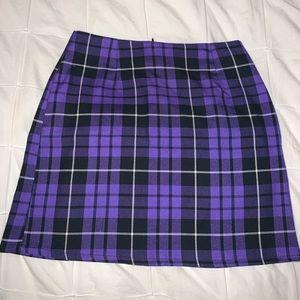 Purple Plaid Nasty Gal Skirt